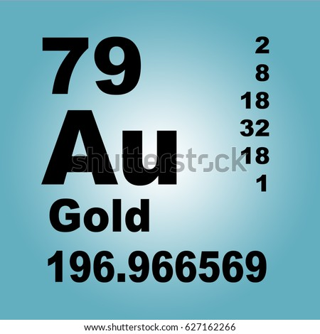 Gold periodic table elements stock illustration 627162266 shutterstock gold periodic table of elements urtaz Choice Image