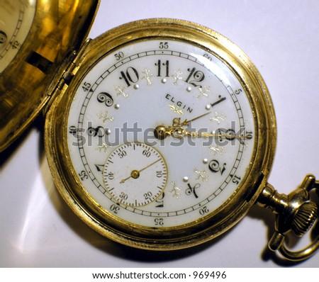 Gold Pocket Watch - stock photo