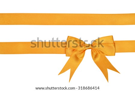 Gold ribbon isolated on a white background - stock photo
