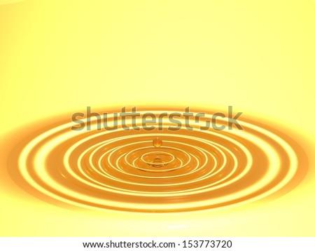 gold ripple  - stock photo