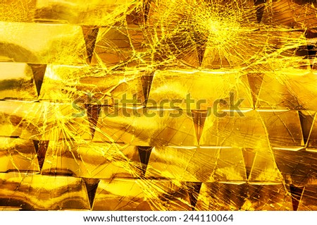Gold, risky savings, finance collapse loss - stock photo