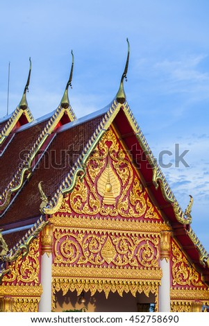 Gold roof gable in Thai style