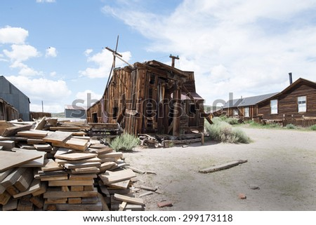 gold rush era of Bodie town   ghost town, ghost town, ghost town, ghost town, ghost town, ghost town, ghost town, ghost town, ghost town, ghost town, ghost town, ghost town, ghost town, ghost town,  - stock photo