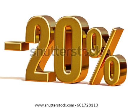 Gold Sale -20%, Gold Percent Off Discount Sign, Sale Banner Template, Special Offer -20% Off Discount Tag, Minus Twenty Percent Sticker, Gold Sale Symbol, Gold Sticker, Advertising, Luxury Sale