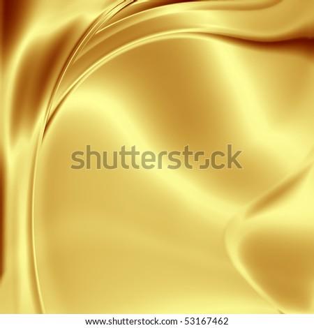 Gold satin texture - stock photo