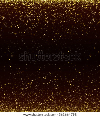 Gold sparkle colour abstract light background. Blurred, Abstract lights - stock photo