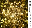 Gold sparkle glitter background. Glitter stars background - stock photo