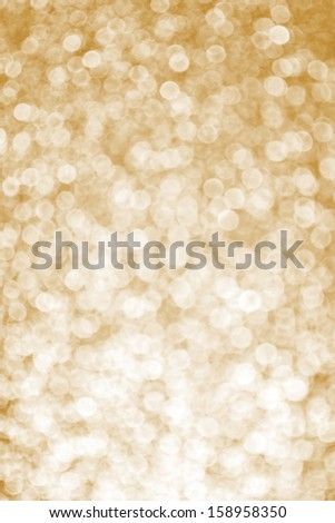 Gold sparkling glitter background - stock photo