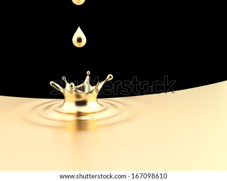 Gold Splash - stock photo