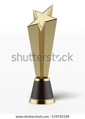 Gold Star Award - stock photo