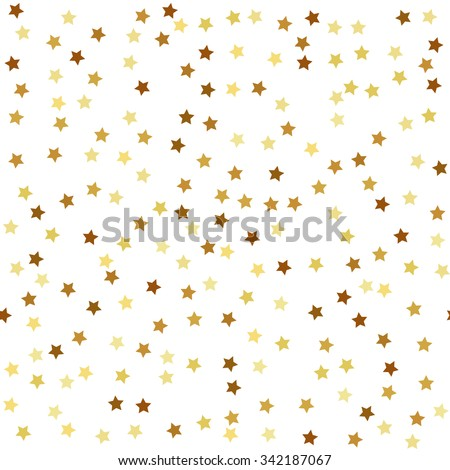 Gold star seamless pattern