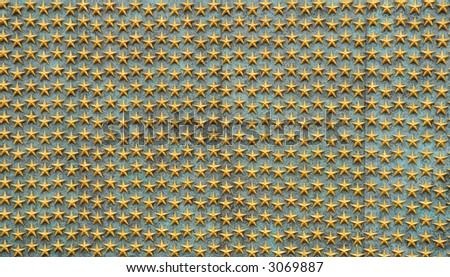 Gold stars background from the world war II monument in washington, dc - stock photo