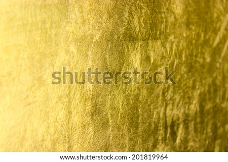 gold surface, photographed at an angle - stock photo