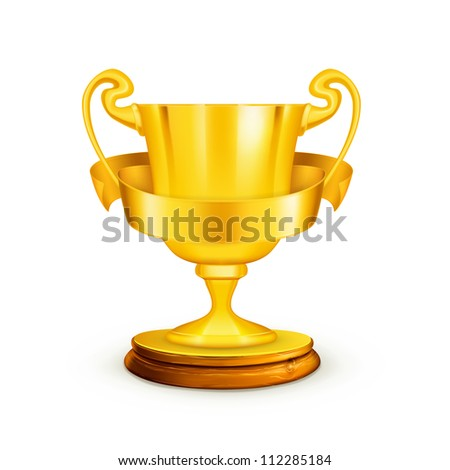 Gold trophy, bitmap copy - stock photo
