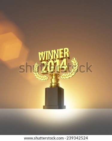 Gold Trophy 2014 Winner - stock photo