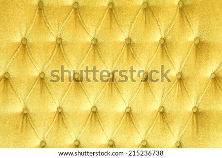 Gold Velvet and Luxury leather texture from sofa - stock photo