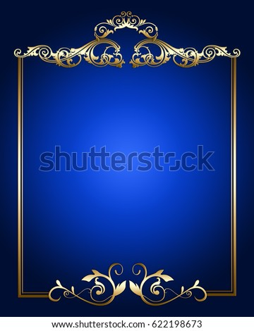 navy blue and gold border   pixshark     images