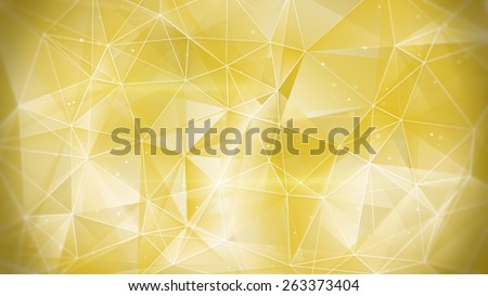 gold web. computer generated abstract geometrical background - stock photo