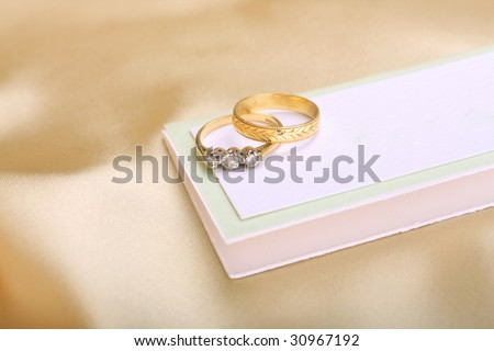 Gold Wedding Diamond Engagement Ring On Stock Photo 30967192