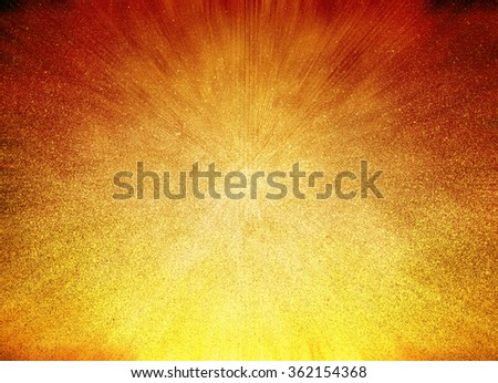 gold yellow background or orange red background abstract design of zoomed in colors like sun ray or sun beam flare, summer sun streaks with warm colors, background graphic art for brochure or web - stock photo