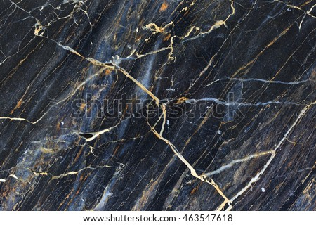 Gold yellow pattern structure of dark marble texture for background.