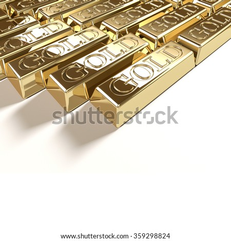 Goldbar - stock photo