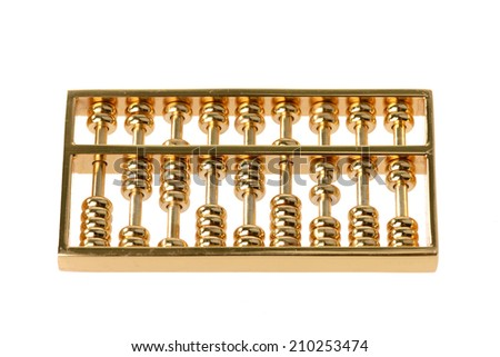 Golden Abacus - stock photo