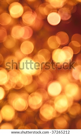 Golden Abstract Lights. Unfocused Light background Series. - stock photo