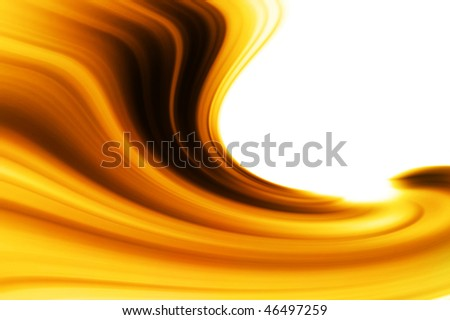 Golden abstract wave