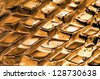 golden abstraction - stock photo