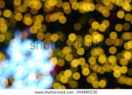 golden and blue christmas background - stock photo