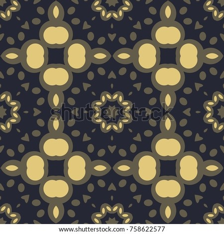 Golden and gray vintage background with floral ornament