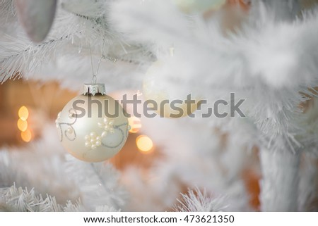 Golden and white Christmas decoration