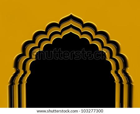 Golden Arch - stock photo