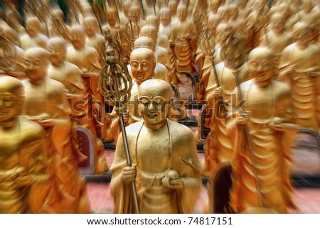 Golden Army, Great Wisdom Temple, Hat Yai, Thailand