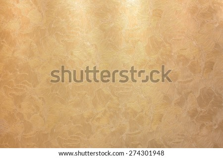 golden background  luxury texture with a relief pattern bronze - stock photo