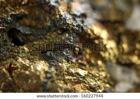 Golden background. Macro  - stock photo