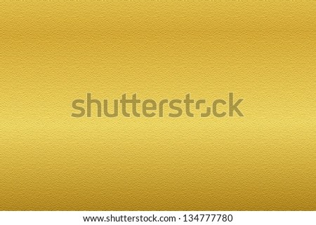 Golden background/texture with smooth surface relief - stock photo