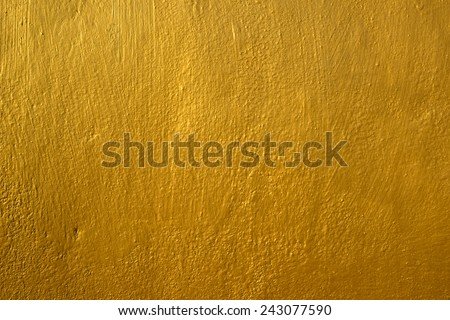 Golden background wall - stock photo
