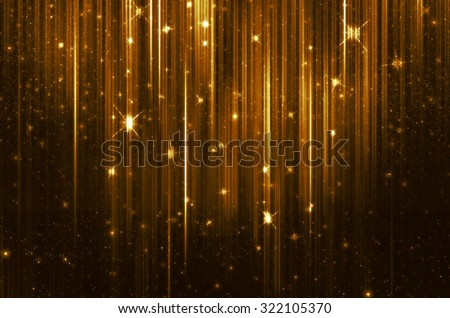 golden background with shiny lights - stock photo