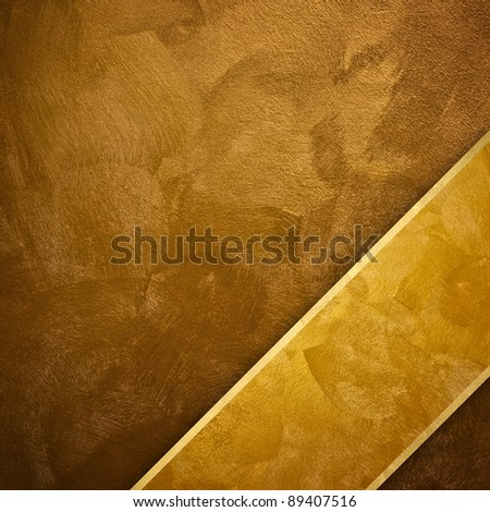 golden background with strip - stock photo