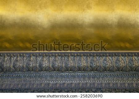 Golden base of Buddha statue background - stock photo
