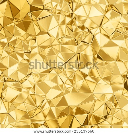 golden beaautiful triangle abstract background for your design - stock photo