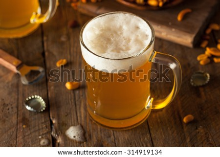 Golden Beer in a Glass Stein for Oktoberfest