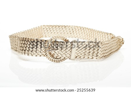 Golden belt isolated on white background