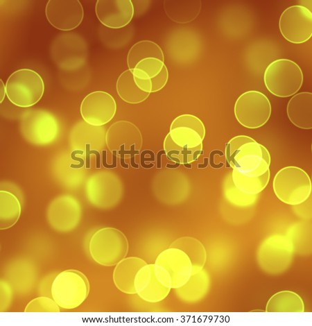 golden bokeh background - stock photo