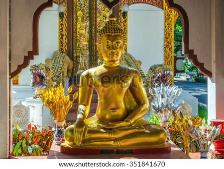 Golden Buddha. - stock photo