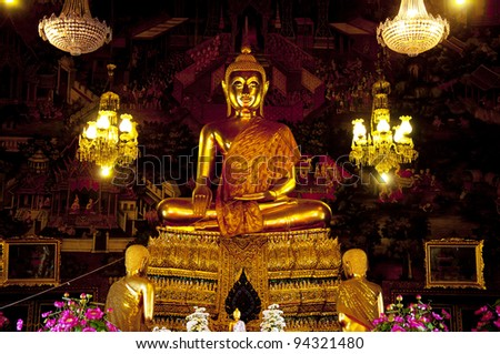 Golden buddha,Bangkok,Thailand. - stock photo