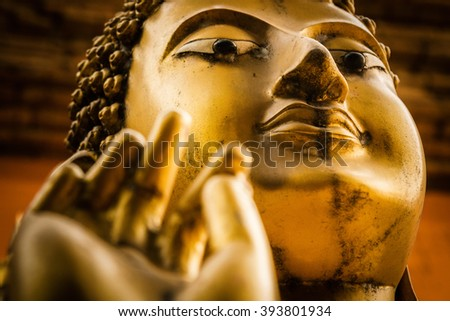 Golden Buddha, Chiang Mai, Thailand - stock photo