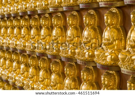 Golden Buddha in temple.